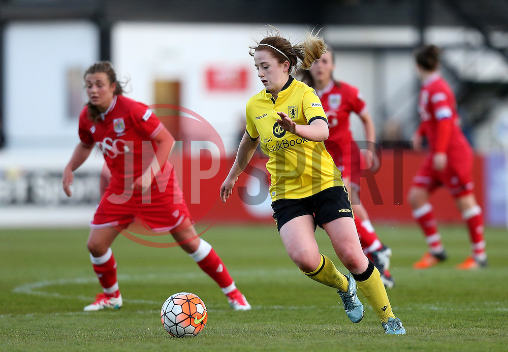 Loren Dykes defender for Bristol City Women runs with the ball - Mandatory by-line: Robbie Stephenson/JMP - 02/01/2012 - FOOTBALL - Stoke Gifford Stadium - Bristol, England - Bristol City Women v Aston Villa Ladies - FA Women's Super League 2