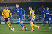 AFC Wimbledon striker Joe Pigott (39) dribbling during the EFL Sky Bet League 1 match between AFC Wimbledon and Southend United at the Cherry Red Records Stadium, Kingston, England on 1 January 2020.
