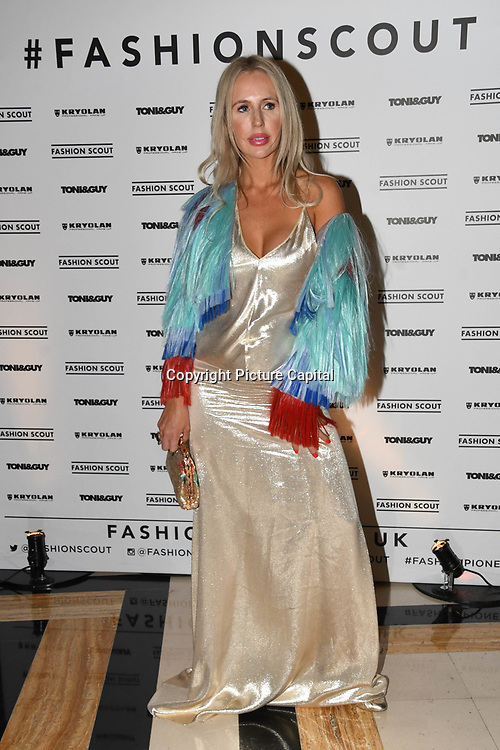 Naomi Isted attend Fashion Scout - SS19 - London Fashion Week - Day 2, London, UK. 15 September 2018.
