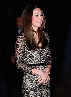 The Duchess of Cambridge attends the screening of David Attenborough's Natural History Museum Alive 3D at the Natural History Museum, London, UK, on the 11th December 2013<br /> <br /> Picture by James Whatling