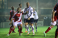 Bolton's Eidur Gudjohnsen &copy;  in action. Barclays U21 Premier league match, Bolton Wanderers U21's  v Middlesbrough U21's at The Leyland county ground in Bolton, Lancs on Monday 1st December 2014.<br /> pic by Chris Stading, Andrew Orchard sports photography.