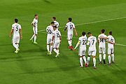 All Whites celebrate after All Whites' Ryan Thomas's goal New Zealand All Whites v Fiji, FIFA Football World Cup Qualification, OFC Final Group Stage. Westpac Stadium, Wellington, New Zealand. 28 March 2017. Copyright Image: Mark Tantrum / www.photosport.nz