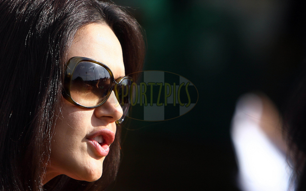 Bollywood actor and Kings XI Punjab team owner priety Zinta before during match 9 of the Indian Premier League ( IPL ) Season 4 between the Kings XI Punjab and the Chennai Super Kings held at the PCA stadium in Mohali, Chandigarh, India on the 13th April 2011..Photo by Money Sharma/BCCI/SPORTZPICS