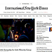 "Screengrab of ""Carrickmines deadly fire"" published in The New York Times"