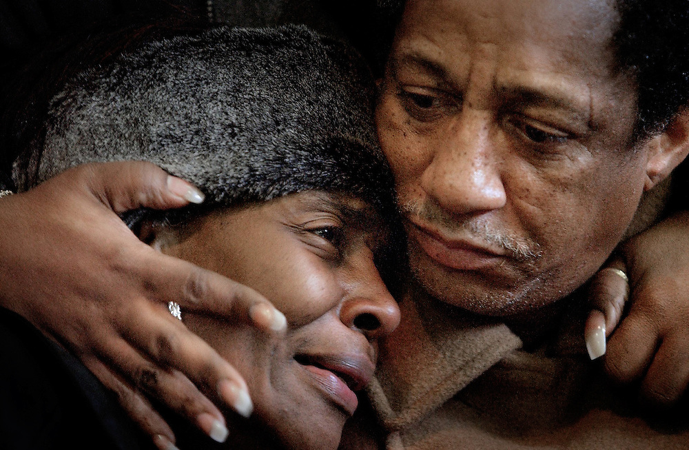 Dorothy and Archie Meyers, mother and father of Antonio Meyers, 22, who died at the Epitome night club fire in Chicago.