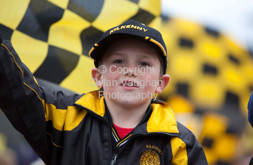 6/9/2009.Aaron Dermody aged 8 from Johnstown pictured at the Kilkenny All Ireland homecoming..Picture Dylan Vaughan.