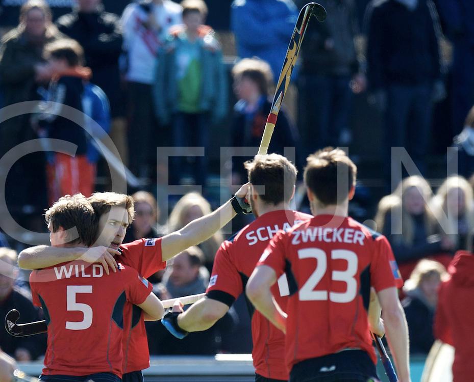 Amstelveen - Euro Hockey league KO16.Amsterdamse H&BC - Berliner HC.foto: Robert Marx scores..FFU PRESS AGENCY COPYRIGHT FRANK UIJLENBROEK.
