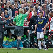 NLD/Rotterdam/20100919 - Voetbalwedstrijd Feyenoord - Ajax 2010, rode kaart voor Miralem Sulejmani