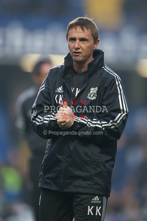 LONDON, ENGLAND - Sunday, November 20, 2011: Liverpool's first team coach Kevin Keene before the Premiership match against Chelsea at Stamford Bridge. (Pic by David Rawcliffe/Propaganda)