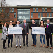 10.03.2017<br /> UL, Kemmy Business School Cheque presentations to Pieta House and Temple Street Childrens Hospital.<br /> Pictured are left to right, Annette Cahill, Pieta House, Elisabeth Small, Accounting Rep, Romain Fachero, Economics Dept Rep, Dr. Philip O'Regan, Dean Kemmy Business School, Sean Fitzgerald, KBS Faculty Rep, Jean Langford, Marketing and Management Rep and Karl Daly, Temple street rep. Picture: Alan Place
