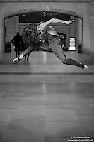 Black And White Dance Photography- Dance As Art Grand Central with dancer Ashley Whitson