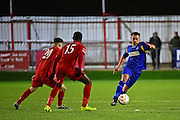 South Park midfielder Michael Smith (8) during the Ryman League - Div One South match between Carshalton Athletic and South Park FC at War Memorial Sports Ground, Carshalton, United Kingdom on 19 November 2016. Photo by Jon Bromley.