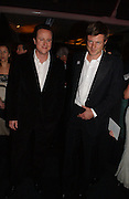 David Cameron and Zac Goldsmith. The Black and White Winter Ball. Old Billingsgate. London. 8 February 2006. -DO NOT ARCHIVE-© Copyright Photograph by Dafydd Jones 66 Stockwell Park Rd. London SW9 0DA Tel 020 7733 0108 www.dafjones.com