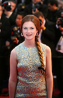 Bonnie Wright at the Cosmopolis gala screening at the 65th Cannes Film Festival France. Cosmopolis is directed by David Cronenberg and based on the book by writer Don Dellilo.  Friday 25th May 2012 in Cannes Film Festival, France.