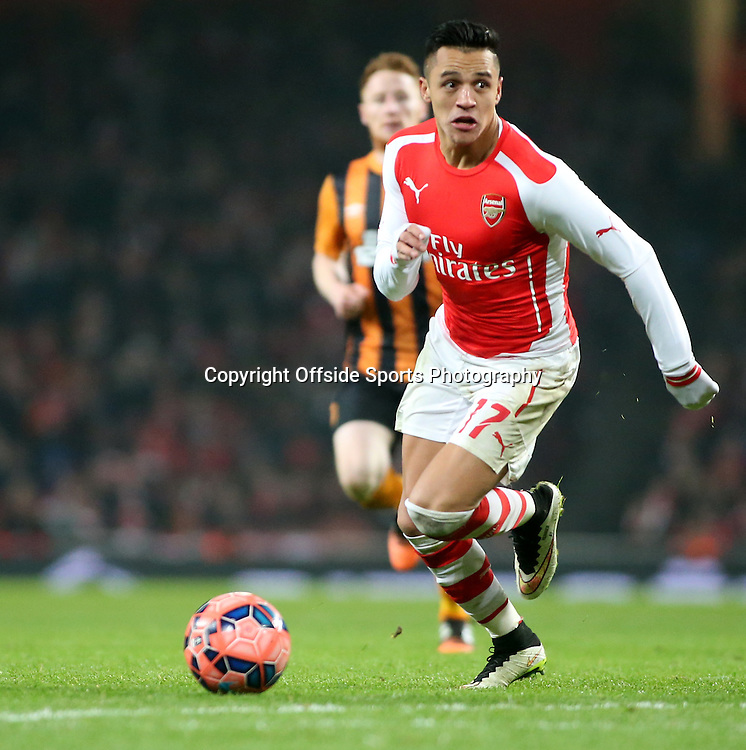 04 January 2015 - FA Cup Third Round - Arsenal v Hull City - Alexis Sanchez of Arsenal.<br /> <br /> Photo: Ryan Smyth/Offside
