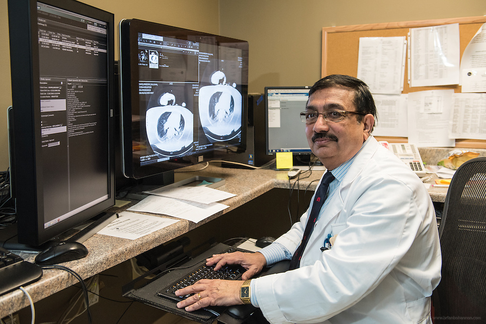 Lung Cancer Screening Program Pulmonologist Rajan Joshi, MD, photographed Wednesday, May 20, 2015, at Baptist Health in Richmond, Ky. (Photo by Brian Bohannon/Videobred for Baptist Health)