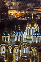 Вечерний вид на Владимирский Собор, Киев.