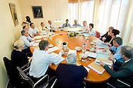 Nederland, Utrecht, 20040401..Orde van Medisch Specialisten..Bestuursvergadering met medewerkers...Netherlands, Utrecht, 20040401..Order of Medical Specialists..Board meeting with employees.    .