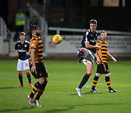 Dundee&rsquo;s Jordan Piggott clears from Alloa Athletic's Kris Renton - Dundee under 20s v Alloa Athletic in the Irn Bru Cup Round 1 at Dens Park, Dundee - photograph by David Young<br /> <br />  - &copy; David Young - www.davidyoungphoto.co.uk - email: davidyoungphoto@gmail.com