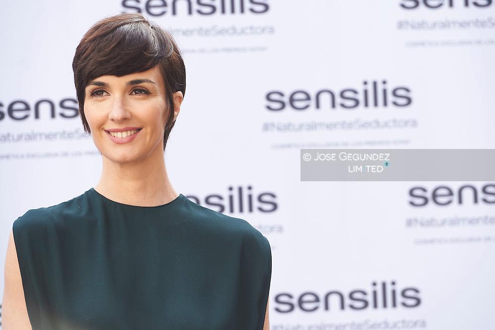 Paz Vega attends 'Sensilis' new image event at Palacio de Santa Barbara on February 5, 2016 in Madrid