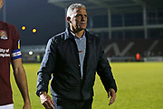 Keith Curle after the EFL Sky Bet League 2 match between Northampton Town and Crewe Alexandra at the PTS Academy Stadium, Northampton, England on 16 November 2019.