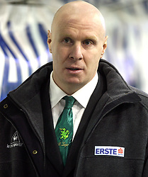 Assistant Coach of Olimpija Bojan Zajc at sixth game of the Final of EBEL league (Erste Bank Eishockey Liga) between ZM Olimpija vs EC Red Bull Salzburg,  on March 25, 2008 in Arena Tivoli, Ljubljana, Slovenia. Red Bull Salzburg won the game 3:2 and series 4:2 and became the Champions of EBEL league 2007/2008.  (Photo by Vid Ponikvar / Sportal Images)..