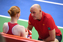 February 9, 2019 - Liege, BELGIQUE - LIEGE, BELGIUM - FEBRUARY 9 : Johan VAN HERCK captain of Belgium, Alison VAN UYTVANCK (BEL) vs Caroline GARCIA (FRA) pictured during the World Group First Round Fed Cup Game between Belgium and France on February 09, 2019 in Liege, Belgium, 9/02/2019 (Credit Image: © Panoramic via ZUMA Press)