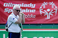 Trevor O'Rourke - Global Football Director at Special Olympics while soccer match between SO France (blue) and SO Hungary (white) during the 2013 Special Olympics European Unified Football Tournament in Warsaw, Poland.<br /> <br /> Poland, Warsaw, June 07, 2012<br /> <br /> Picture also available in RAW (NEF) or TIFF format on special request.<br /> <br /> For editorial use only. Any commercial or promotional use requires permission.<br /> <br /> <br /> Mandatory credit:<br /> Photo by © Adam Nurkiewicz / Mediasport