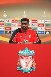 LIVERPOOL, ENGLAND - Friday, May 13, 2016: Liverpool's Kolo Toure during a press conference at Melwood Training Ground ahead of the UEFA Europa League Final against Seville FC. (Pic by David Rawcliffe/Propaganda)