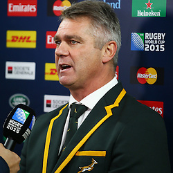 LONDON, ENGLAND - OCTOBER 17: Heyneke Meyer (Head Coach) of South Africa during the Rugby World Cup Quarter Final match between South Africa and Wales at Twickenham Stadium on October 17, 2015 in London, England. (Photo by Steve Haag/Gallo Images)