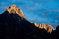 Mount Razor, view from Kranjska Gora<br /> Julian Alps<br /> Triglav National Park, Slovenia<br /> July 2009