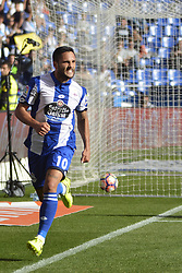 May 20, 2017 - Andone celebrates his second goal. LA CORUNA SPAIN. MAY 20, 2017 - La Liga Santander match day 38 game. Deportivo La Coruna defeated Las Palmas with goals scored by Florin And one (4th and 28th minute) and Carles Gil (39th minute). Riazor Stadium, Spain. Photo by Monica Arcay Carro | PHOTO MEDIA EXPRESS (Credit Image: © Monica Arcay Carro/VW Pics via ZUMA Wire/ZUMAPRESS.com)
