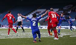 Rochdale's Joe Rafferty appeals for a free kick  - Photo mandatory by-line: Matt McNulty/JMP - Mobile: 07966 386802 - 17.01.2015 - SPORT - Football - Rochdale - Spotland Stadium - Rochdale v Crawley Town - Sky Bet League One