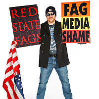 Steve Drain, member of the Westboro Baptist Church. A former documentary filmaker, he is not related to the Phelps family. He is in charge of WBC multimedia projects.