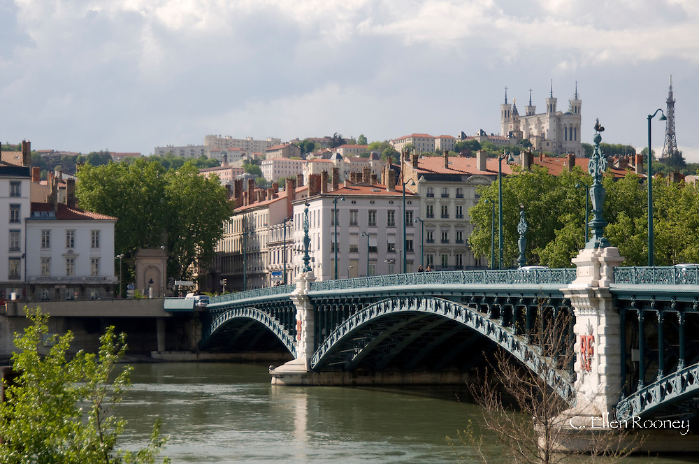 The Pont de l'Universite and the Lyon skyline;  Lyon, France