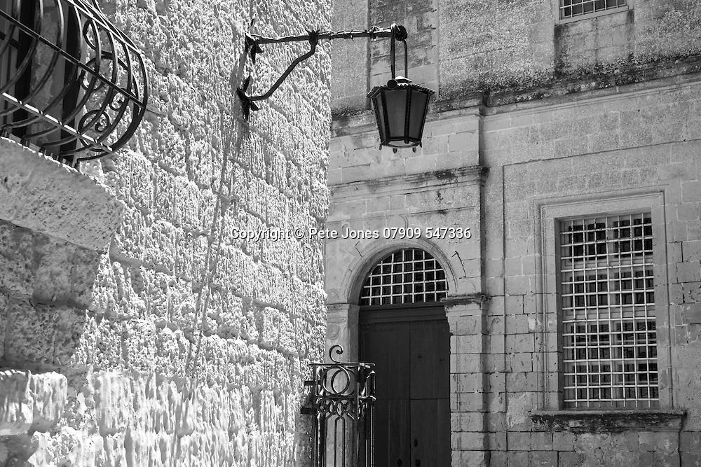 Street in Mdina, Rabat, <br /> Malta, Europe.<br /> Summer 2016.