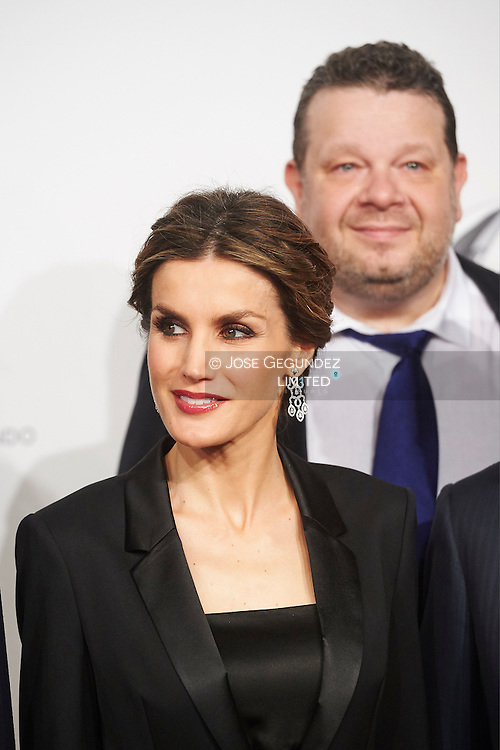 Queen Letizia of Spain attended to Antena3's 25th anniversary party at Palacio de Cibeles on January 29, 2015 in Madrid
