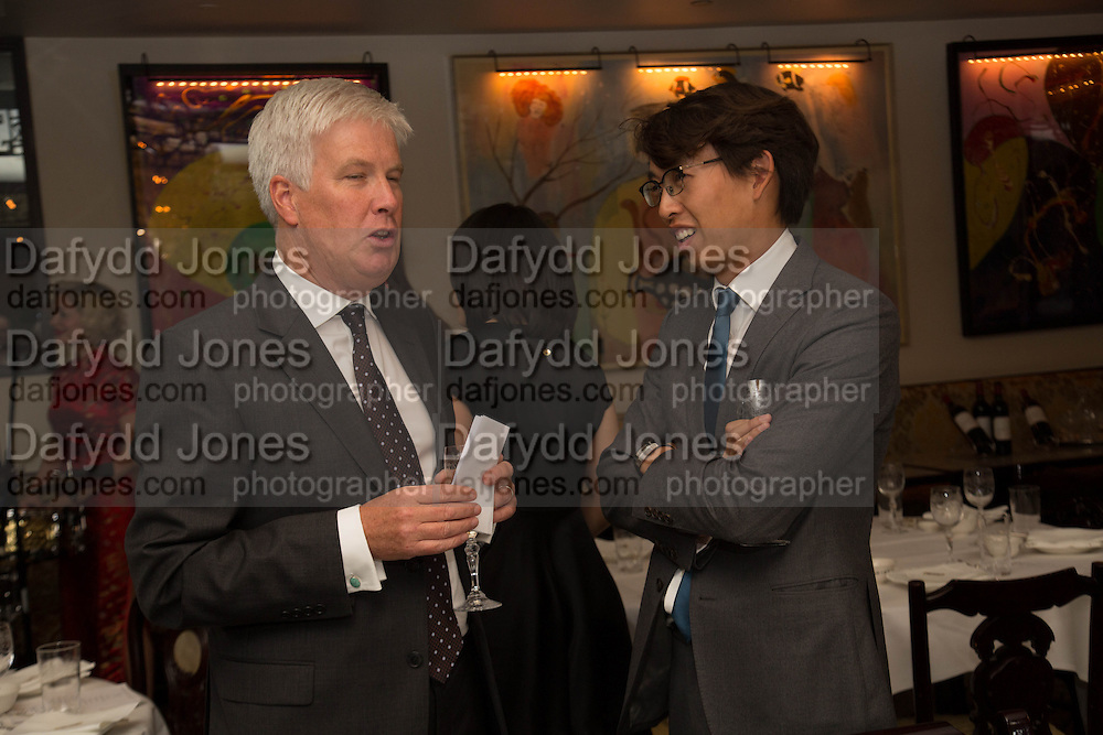 JAMES FURSE; FEI FEI HU;, Dinner in aid of the China Tiger Revival hosted by Sir David Tang and Stephen Fry  at China Tang, Park Lane, London. 1 October 2013. ,