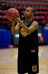 March 19, 2010; Stanford, CA, USA;  Iowa Hawkeyes guard Kachine Alexander (21) before the first round game of the 2010 NCAA Womens Division I Championship at Maples Pavilion.