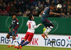 Football: Germany, DFB Cup<br /> Hakan Calhanoglu  (Hamburger SV, HSV) - <br /> Jerome Boateng (FC Bayern Muenchen)