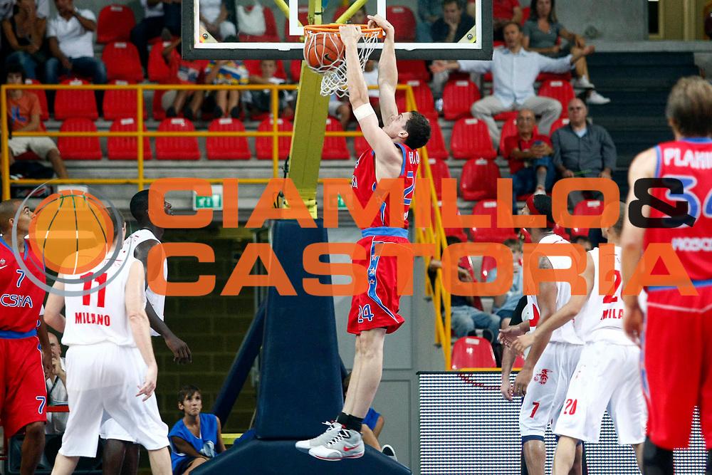 DESCRIZIONE : Verona Lega A1 2008-09 Incontro Amichevole a scopo benefico Un canestro per la vita Armani Jeans MIlano Cska Mosca<br /> GIOCATORE : Alexander Kaun<br /> SQUADRA : Cska Mosca<br /> EVENTO : Campionato Lega A1 2008-2009 <br /> GARA : Armani Jeans Milano Cska Mosca<br /> DATA : 10/09/2008 <br /> CATEGORIA : Schiacciata<br /> SPORT : Pallacanestro <br /> AUTORE : Agenzia Ciamillo-Castoria/S.Ceretti