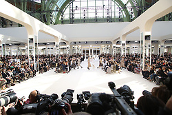 Models present a creation for Chanel during the 2016-2017 fall/winter ready-to-wear collection fashion show at Grand Palais in Paris, France on March 8, 2016. Photo by Alain Gil-Gonzalez/ABACAPRESS.COM