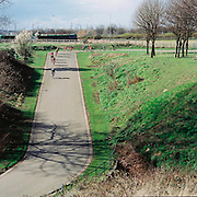 Scenes from the popular bicycle racing circuit, Eastway, in Stratford,east London