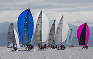 Silvers Marine Scottish Series 2017<br /> Tarbert Loch Fyne - Sailing Day 3<br /> <br /> Class 3 downwind with GBR149, Robbers Dog, Jono &amp; Ben Shelley, Ullswater YC, VX One, GBR8538R, Jack, Mr Peter Doig, East Antrim Boat Club, J92, GBR6521, Trastada, Roddy Angus/D Challis, FYC, Half Tonner