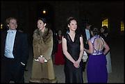 MIKE FEDOSIUK; ELISABETH HAMILTON; JOSEPHINE RENDALL-NEIL, Oxford University Polo club Ball, Blenheim Palace. Woodstock. 6 March 2015