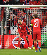 Thomas Mueller of Bayern Munich reacts after seeing his penalty saved during the UEFA Champions League match at Allianz Arena, Munich<br /> Picture by EXPA Pictures/Focus Images Ltd 07814482222<br /> 03/05/2016<br /> ***UK &amp; IRELAND ONLY***<br /> EXPA-EIB-160503-0066.jpg