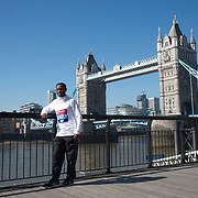 Keninisa Bekele - Elite men photocall - Virgin Money London Marathon at Tower Hill on 19 April 2018, London, UK.