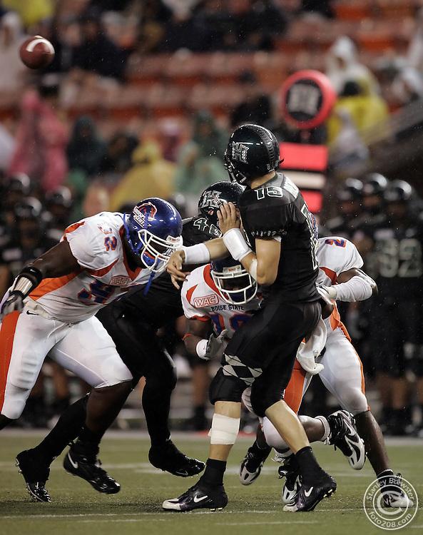 Nonolulu, Hawaii. 10-01-05 Boise State beats Hawaii at Aloha Stadium.