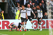 Derby County forward Jamie Paterson (7) scores a goal and celebrates 3-2 during the EFL Sky Bet Championship match between Derby County and Birmingham City at the Pride Park, Derby, England on 28 September 2019.