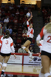 19 November 2010: Leighann Hranka during an NCAA volleyball match between the Sycamores of Indiana State and the Illinois State Redbirds at Redbird Arena in Normal Illinois.